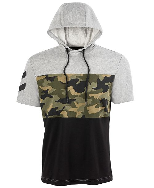 Ideology Men's Camo Colorblocked Short-Sleeve Sweatshirt, Created for Macy's