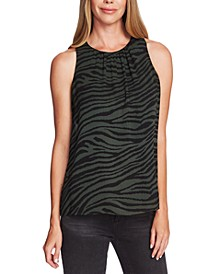 Tranquil Tiger Printed Sleeveless Blouse