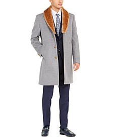 Men's Faux-Fur Trim Overcoat