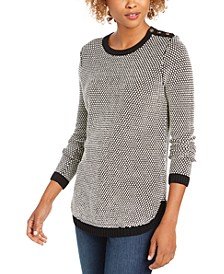 Petite Textured Knit Sweater, Created For Macy's