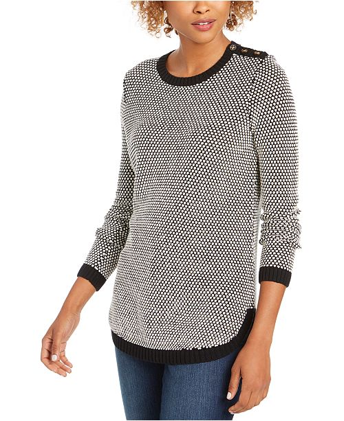 Charter Club Petite Textured Knit Sweater, Created for Macy's
