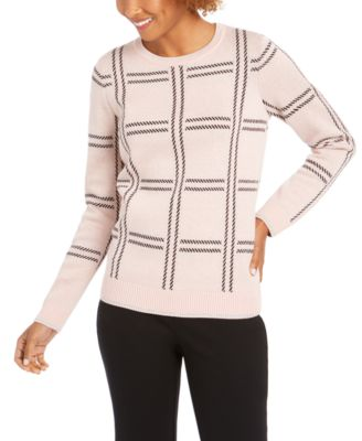 Printed Crewneck Sweater, Created For Macy's