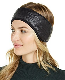 Quilted Faux-Fur-Trim All Weather Headband