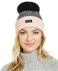 Colorblocked Marled Knit Hat