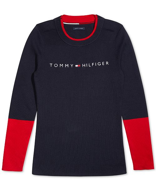 Tommy Hilfiger Women's Sweater with Velcro® Brand Closure at Shoulders