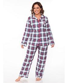 Plus Flannel Pajama Set
