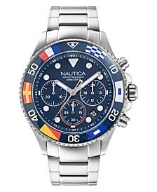 Nautica Men's Wesport Stainless Steel Bracelet Watch 44mm