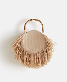 Mango Fringed Round Bag