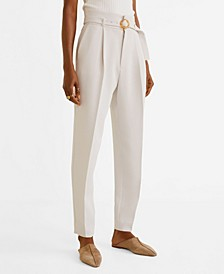 Belt Straight-Fit Trousers