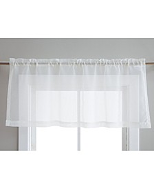 Lumino by Canberra Sheer Voile Rod Pocket Valance - 50 W x 18 L - Set of 2