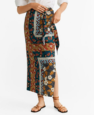 Mixed Print Skirt by General