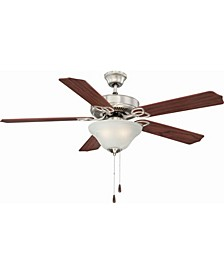 Marti 3-Light Nickel Ceiling Fan