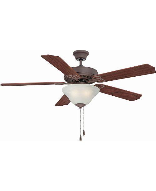 Volume Lighting Rainier 3-Light Foundry Bronze Ceiling Fan