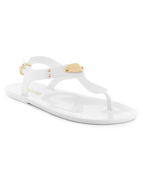 150aca35b1c Michael Kors Plate Jelly Sandals   Reviews - Sandals   Flip Flops ...