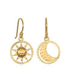 Satya Jewelry Sun and Moon Drop Earrings