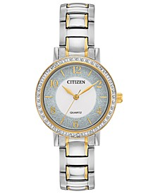 Women's Quartz Two-Tone Stainless Steel Bracelet Watch 30mm