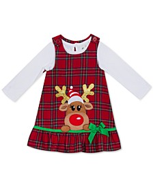 Little Girls Rudolph Jumper