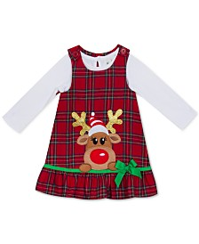 Rare Editions Toddler Girls Rudolph Jumper