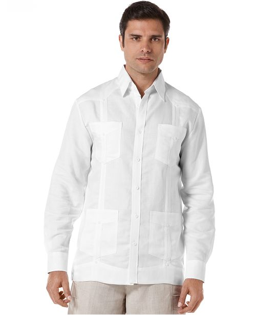 0270c0be97 Cubavera Long Sleeve Non Embroidered Guayabera Shirt   Reviews ...