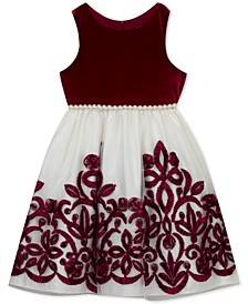 Toddler Girls Embellished Velvet Dress