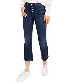 Ava Mini-Flare Capri Jeans