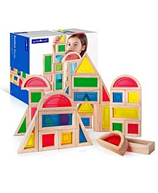 Guidecraft Rainbow Blocks - 30 Pieces Set