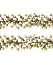 Gerson & Gerson 9-Foot Long Wasatch Mountain Cashmere Ming Pine Garlands - Set of 2
