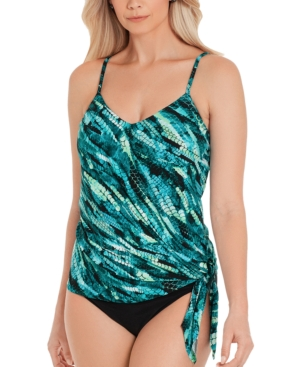 Magicsuit Aquarius Printed Side-Tie Tankini Top Women's Swimsuit