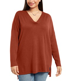 Style & Co Plus Size V-Neck Sweater, Created For Macy's