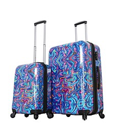 Italy Printed 2-Pc. Spinner Luggage Set