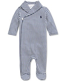 Baby Boys Interlock Printed Shawl Coverall