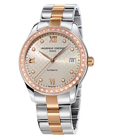 Frederique Constant Women's Swiss Automatic Diamond (2/3 ct. t.w.) Two-Tone Stainless Steel Bracelet Watch 36mm