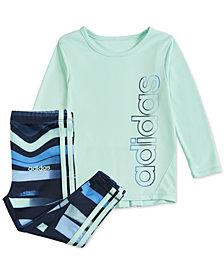 adidas Baby Girls Logo T-Shirt & Printed Tights Set