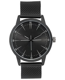 INC Men's Stainless Steel Mesh Bracelet Watch 45mm, Created For Macy's
