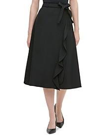 Ruffled Faux-Wrap Skirt
