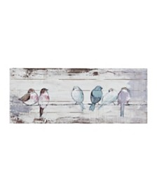 Madison Park Perched Birds Hand Painted Wood Plank