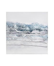 Blue Glacier Heavy Textured Canvas with Glitter and Silver foil Embelishment