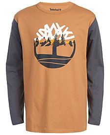 Big Boys Grafton Wheat Colorblocked Logo T-Shirt