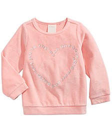 Baby Girls Heart-Print Velour Top, Created For Macy's