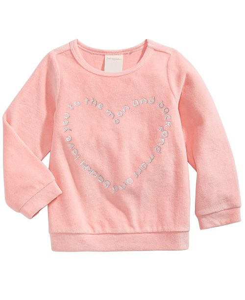First Impressions Toddler Girls Heart-Print Velour Top, Created For Macy's