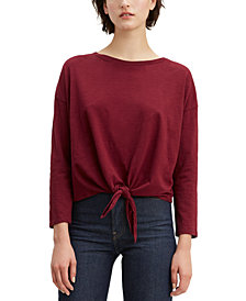 Levi's® Greta Cotton Tie Front T-Shirt