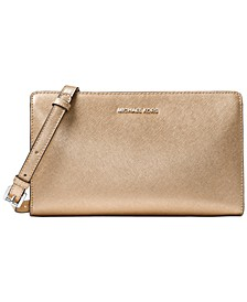 Jet Set Metallic Travel Crossbody Clutch