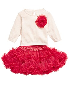 Baby Girls 2-Pc. Sweater & Ruffled Skirt Set, Created For Macy's