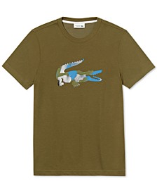 Men's Textured Logo Graphic T-Shirt
