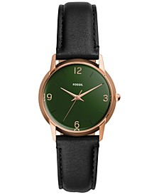 Women's Mood Black Leather Strap Watch 32mm - A Limited Edition