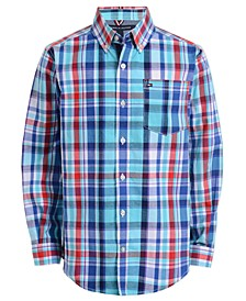 Baby Boys Stretch Plaid Shirt