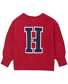 Baby Girls Big H Sweater
