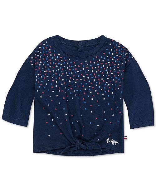 Tommy Hilfiger Baby Girls Glitter Dot T-Shirt