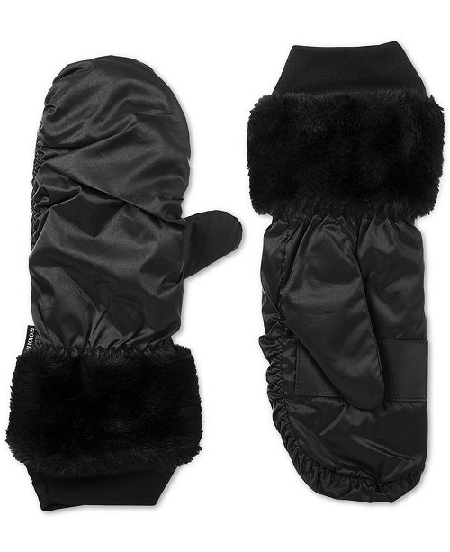 Isotoner Signature isotoner Women's SleekHeat® Touchscreen Mittens with Faux Fur Cuff