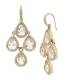 Miriam Haskell Stone Chandelier Earrings